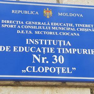 Capitolul – Reparațiile instituțiilor de învățământ preșcolar, primar și secundar general din subordinea DETS a sec. Ciocana