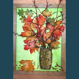 Copăcei de sezon cu frunze ruginii